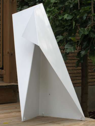 Smaller Dimension, Clear coated aluminium, 32 X 24 X 10 inches, $$135.0000